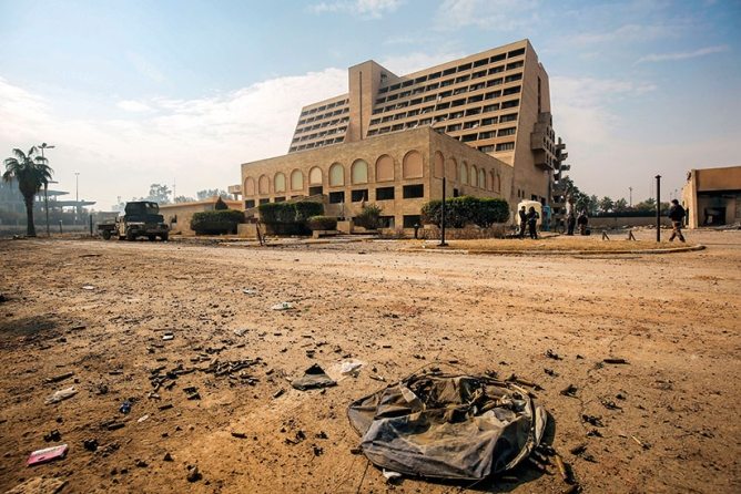 Beyond borders: The battle-hit Nineveh International Hotel in Iraq was built by NBCC.