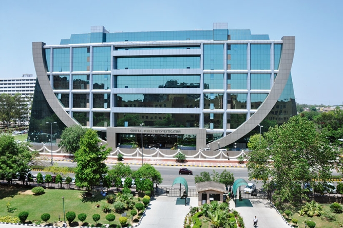 NBCC's works include the Agartala City Centre, the NIFT campus in Bengaluru, and the CBI headquarters in New Delhi <em>(from top to bottom)</em>.