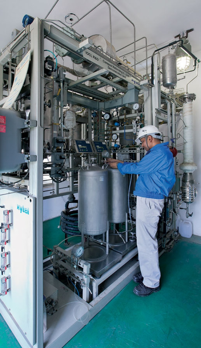Indian Oil's hydrogen compressed natural gas plant