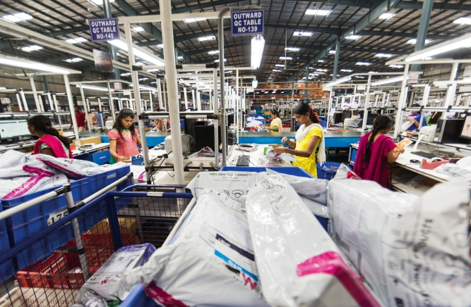 Behind the scenes at a Myntra-Jabong warehouse; Photo by Narendra Bisht
