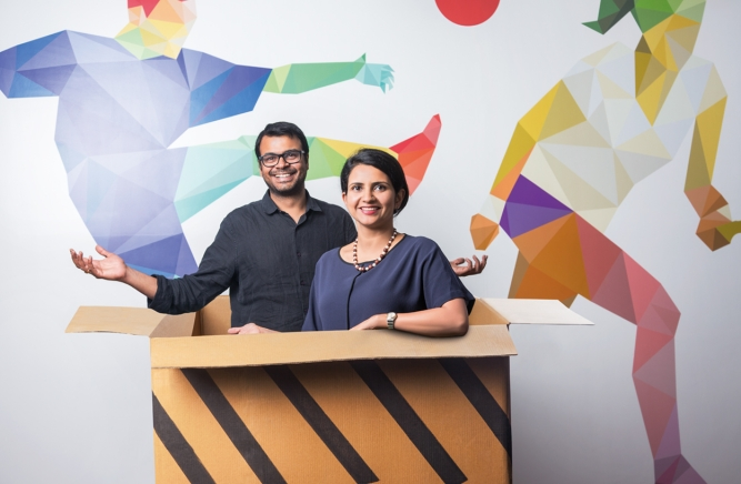 Naresh Krishnaswamy, Myntra'schief revenue officer, and Ananya Tripathi, chief strategyand planning officer, Myntra and Jabong;  Photo by Narendra Bisht