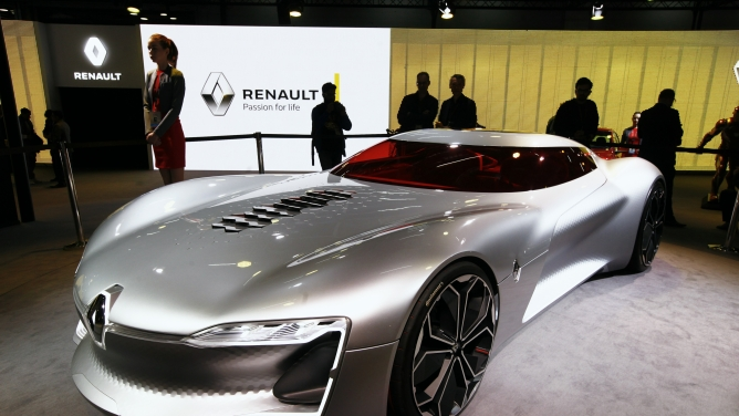 A Renault concept car at the 2018 Auto Expo in Greater Noida. Photo by Sanjay Rawat.