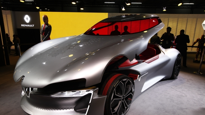 A Renault concept car at the 2018 Auto Expo began in Greater Noida. Photo by Sanjay Rawat