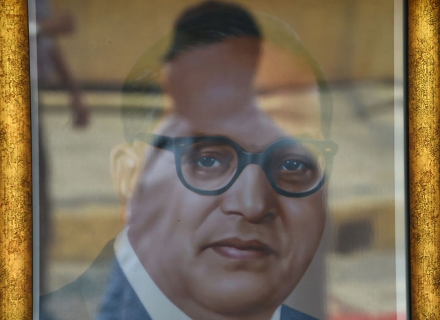 Ambedkar photo (INDRANIL MUKHERJEE/AFP/Getty Images)