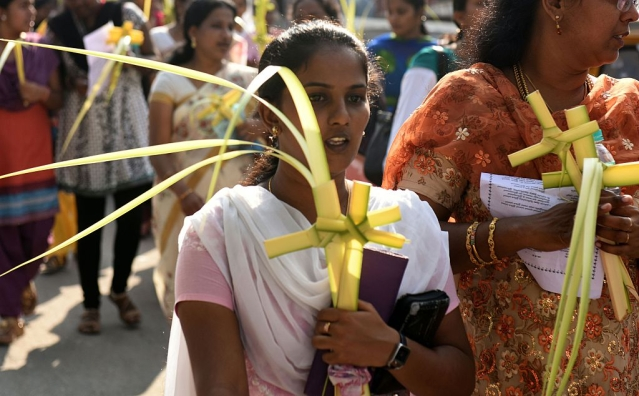 Tamil Nadu Church Christians (ARUN SANKAR/AFP/Getty Images)