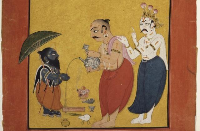 A scene from the Vamana avatar story