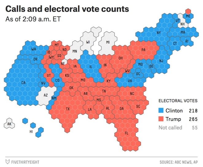 US Elections Live Updates Donald Trump Elected Th - Final us electoral map 2016