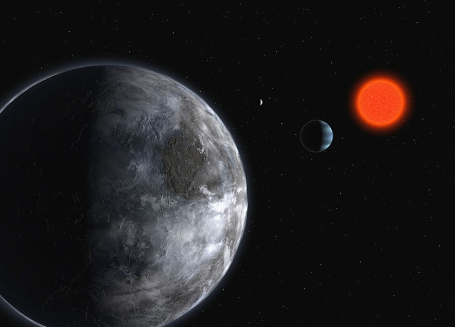 An artist's impression of the planetary system around the red dwarf, Gliese 581. Photo credit: ESO via Getty Images