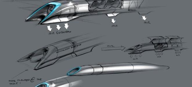 Hyperloop Sketch by SpaceX
