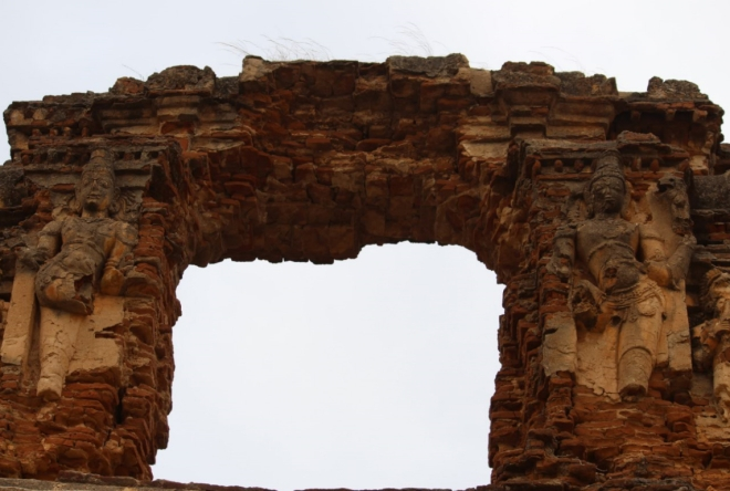A destroyed arch