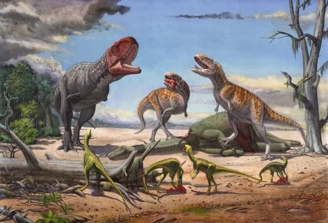 Two Indosuchus, Rajasaurus and Indosaurus (Photo Courtesy: Sergey Krasovskiy).