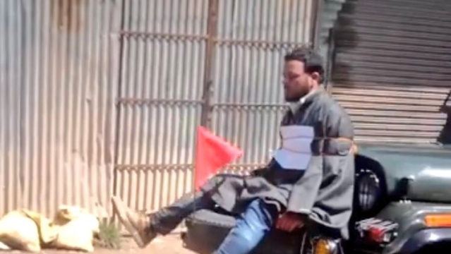 Indian Army Goes Israel Way, Ties A Stone-Pelter In Front Of Its Cavalcade As Punishment