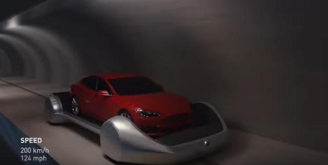 A render of The Boring Company's project