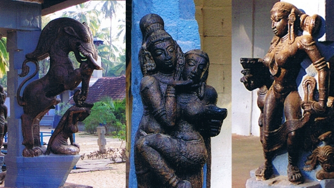 There is a veritable celebration of all forms of womanhood in these pillar sculptures.