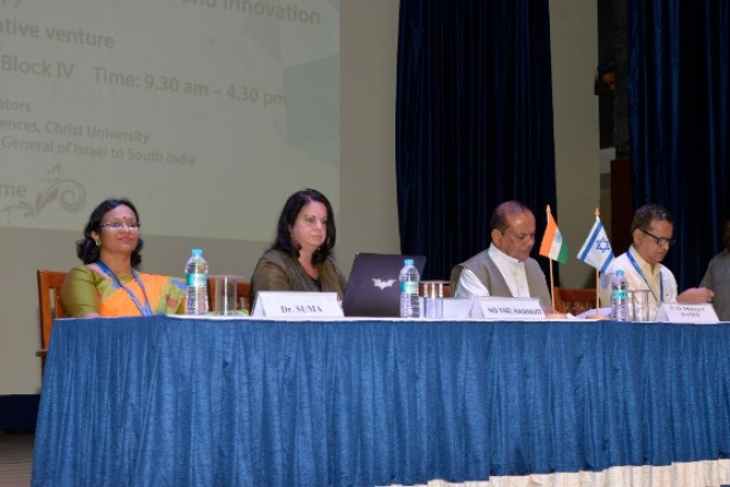 Dr Suma S of the Department of Life Sciences, Christ University, and Consul General of Israel to South India, Yael Hashavit. (Photo: Christ University)