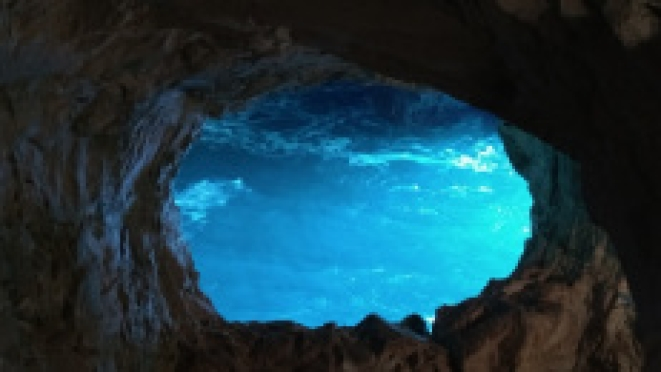 The brilliant blue water of the Mare Nostrum
