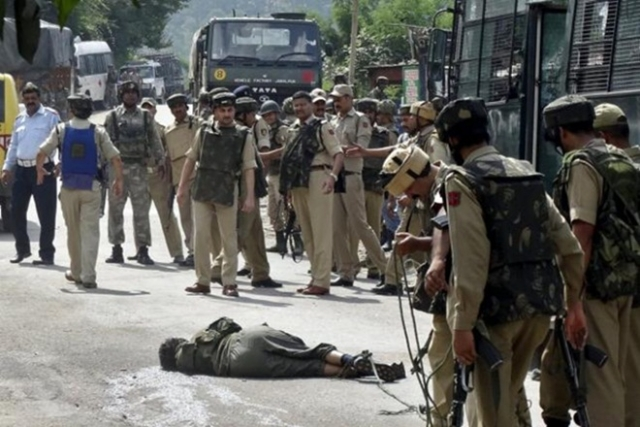 Three Lashkar Terrorists Gunned Down By Security Forces In Pulwama Despite Stone Pelting By Locals