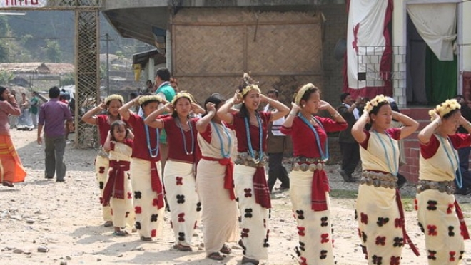 A festival of the Nyishi tribe of Arunachal Pradesh (Nandini Velho/Wikimedia Commons)