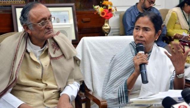 Amit Mitra and Mamata Banerjee