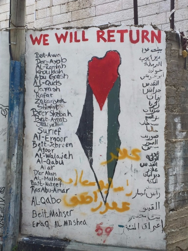 Palestinians emphasise their 'right to return'