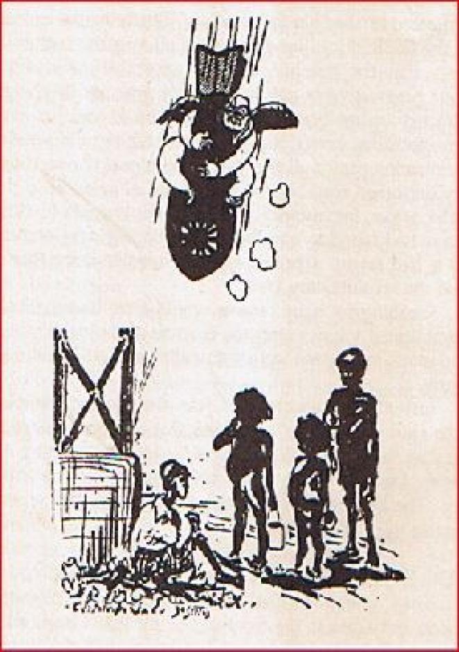 People's War cartoon taunting Subash Chandra Bose. (Courtesy Arun Shourie)