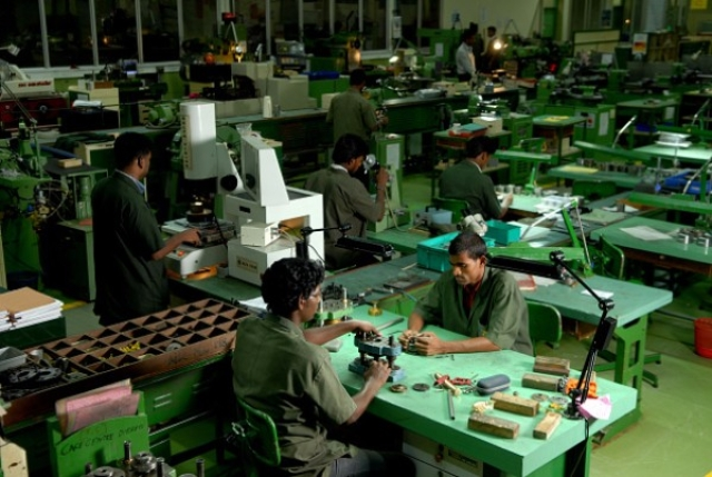 A view of a Titan watch factory in Hosur. (Hemant Mishra/Mint via GettyImages)