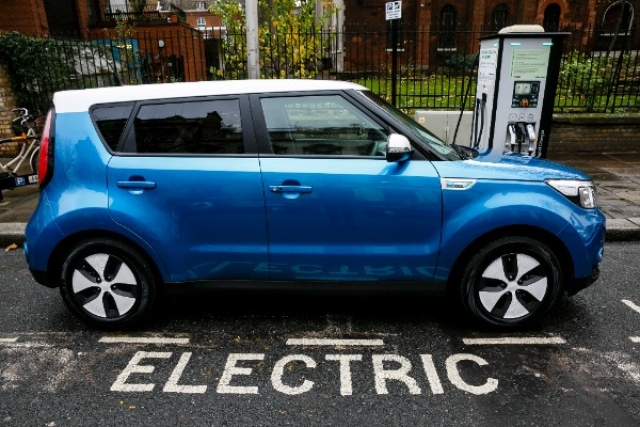 Kia Soul EV being charged in London. (Miles Willis / Stringer via Getty Images)