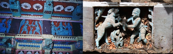 Panels 2005 and details of a fallen panel (2017)
