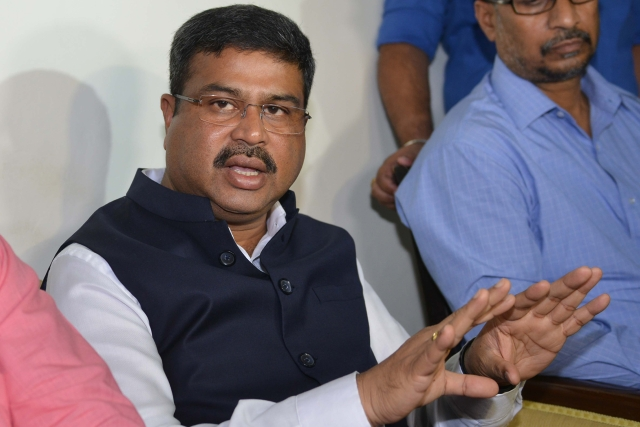 Petroleum and Natural Gas Minister Dharmendra Pradhan. (NARINDER NANU/AFP/Getty Images)