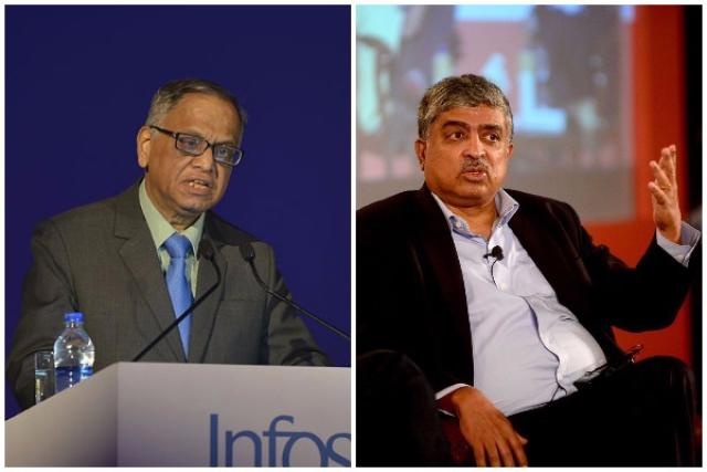N R Narayana Murthy and Nandan Nilekani.