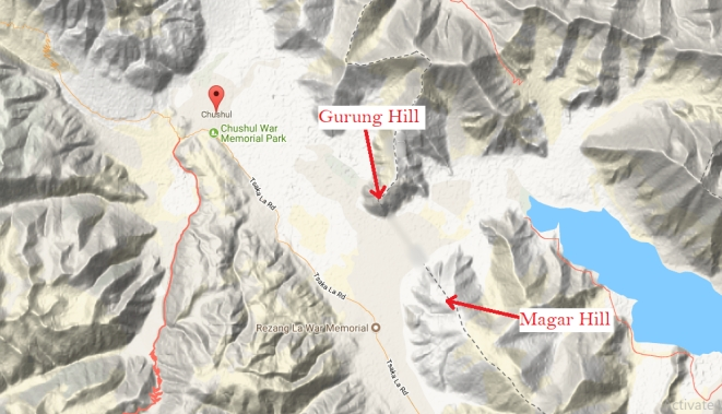 Location of Gurung Hill and Magar Hill. (Source: elevationmap.net)