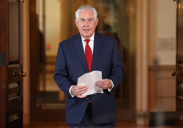 United States Secretary of State Rex Tillerson  (Win McNamee/GettyImages)