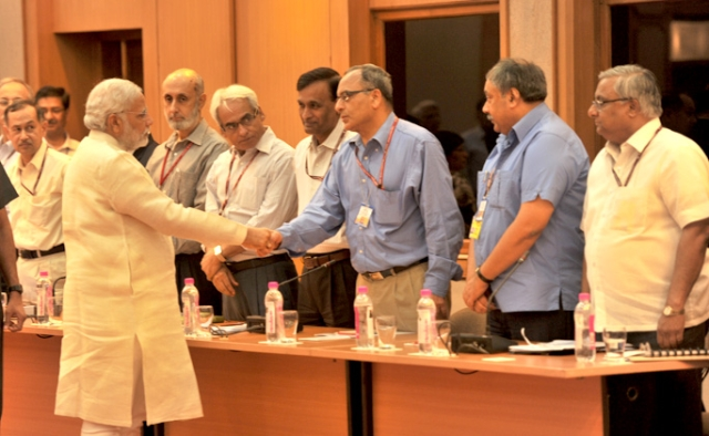 Prime Minister Narendra Modi meeting government secretaries. (PMO website)