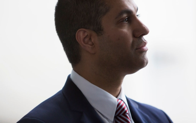 Federal Communications Commission Chairman Ajit Pai before speaking at an internet regulation event at the Newseum April 26, 2017 in Washington, DC. (Eric Thayer/Getty Images)