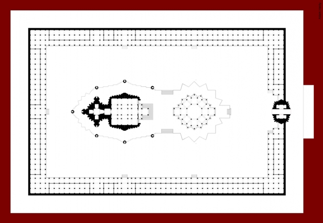 Plan of the entire temple complex