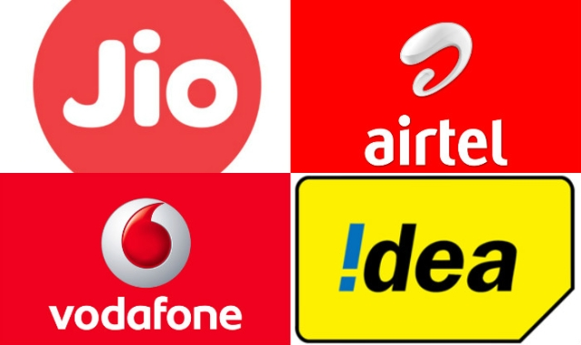 Jio, Airtel, Vodafone and Idea.