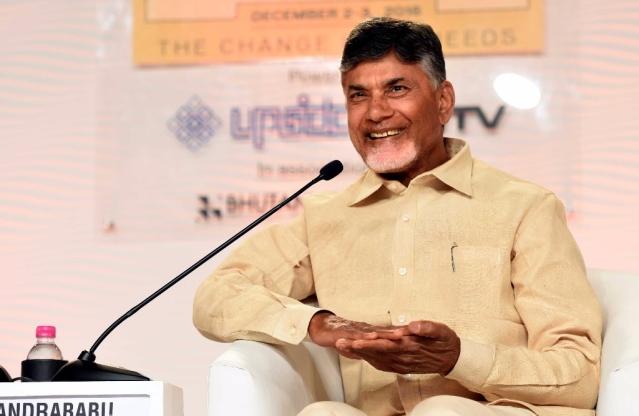 Andhra Pradesh Chief Minister N. Chandrababu Naidu. (Arun Sharma/Hindustan Times via Getty Images)