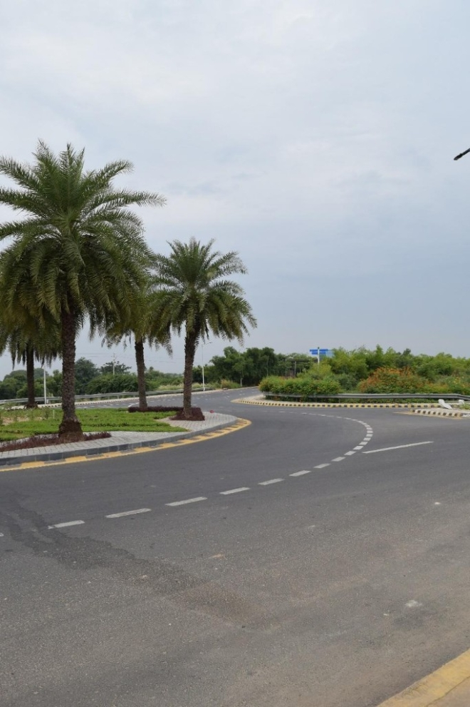 GIFT City is already connected by wide and well-planned roads.