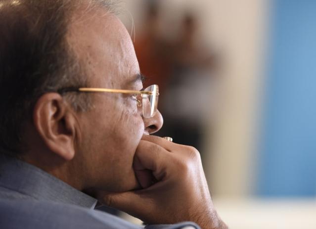 Finance Minister Arun Jaitley. (Sonu Mehta/Hindustan Times via GettyImages)