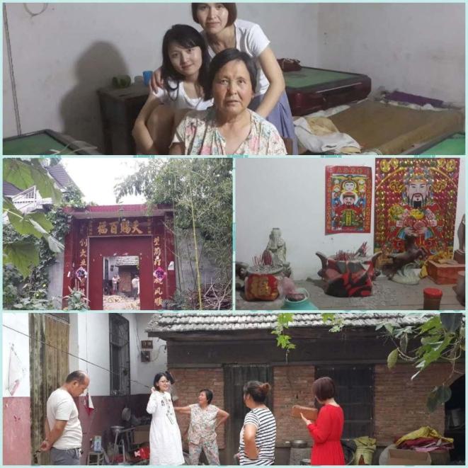 At her maternal grandma's home