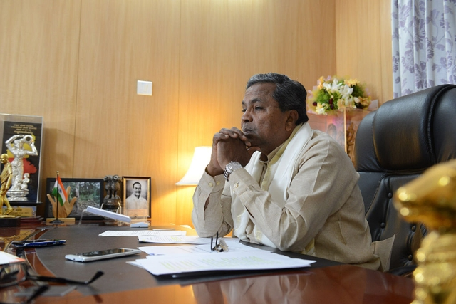 Karnataka Chief Minister Siddaramaiah. (Hemant Mishra/Mint via Getty Images)