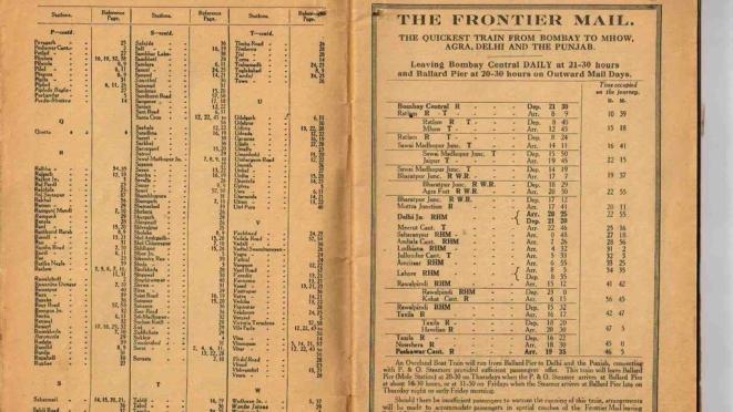 Frontier Mail schedule (IRFCA)