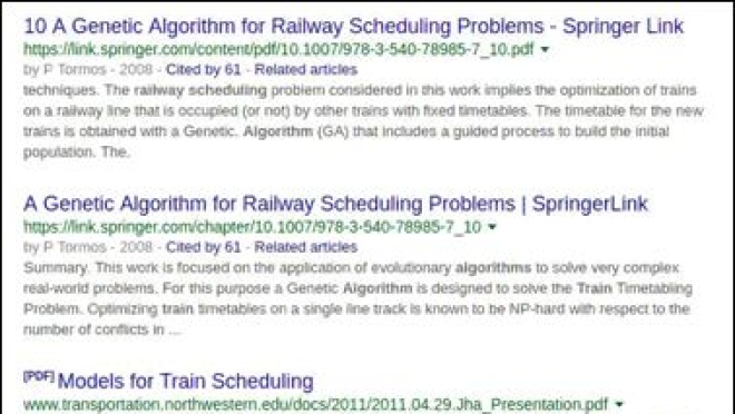 Scheduling algorithms ... web search results