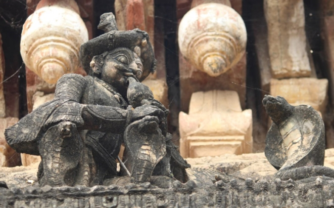 Charm of the Chatram, a sculpture found in Mukthambal Chatram