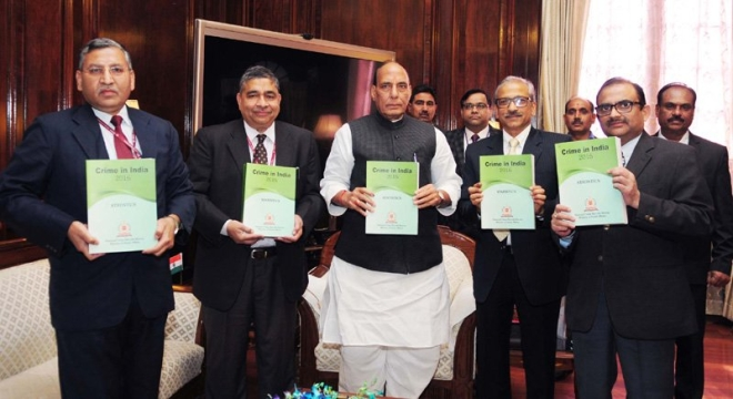 Home Minister Rajnath Singh releasing the NCRB statistics (Press Information Bureau)