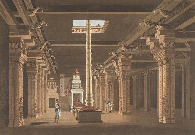 A Madurai Hindu temple choultry or chatram (Daniell, Thomas/Wikimedia Commons)