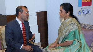 Amid Ongoing Crisis, Maldives' Former President Mohamed Nasheed Meets Defence Minister Sitharaman