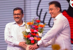 'Makkal Needhi Maiam': Kamal Haasan Launches Political Party With Arvind Kejriwal In Attendance