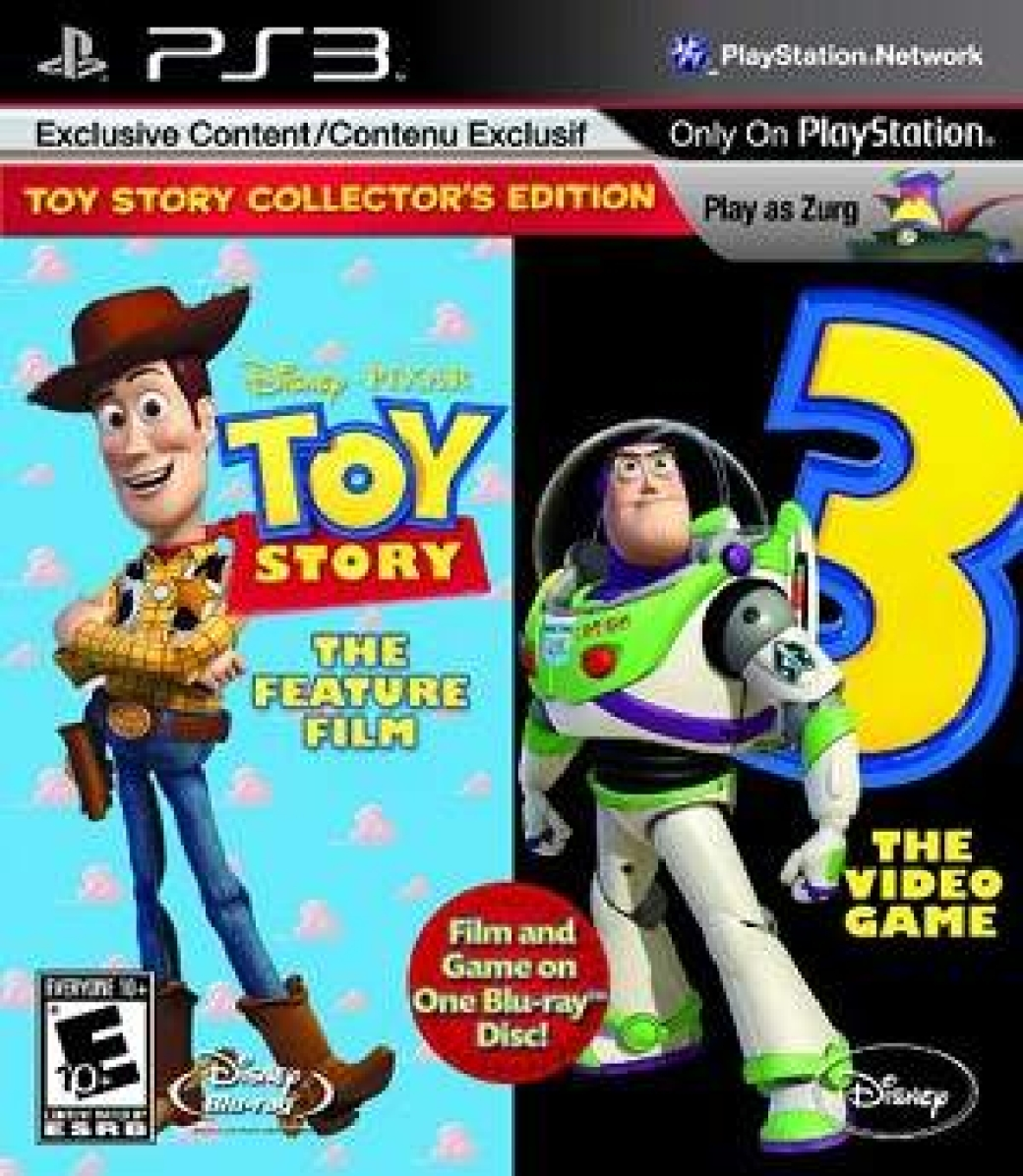 Toy Story 1 Games : Disney puts out ps game and a blu ray movie on one disc