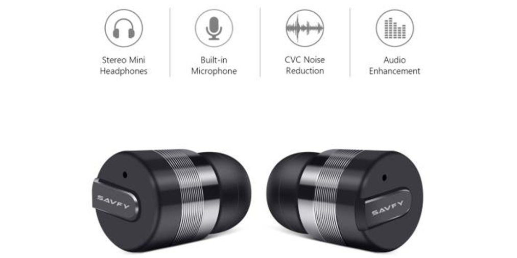 review mini bluetooth earbuds from savfy. Black Bedroom Furniture Sets. Home Design Ideas